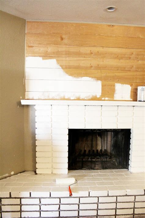 How To Paint Faux Bricks - diy planked mantle and white brick fireplace classy clutter