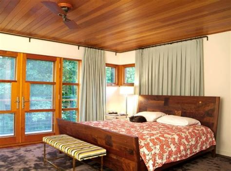 bedroom wooden ceiling design 50 sleigh bed inspirations for a cozy contemporary bedroom