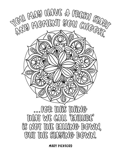 mandala coloring book with quotes motivation mandalas coloring book inspiration for