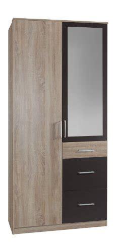 kleiderschrank 2 türig mit spiegel wimex 148628 kleiderschrank 90 x 199 x 58 cm 2 t 252 rig mit