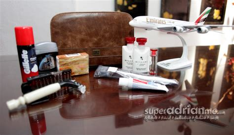 emirates business class amenity kit flying emirates first business class amenity kits