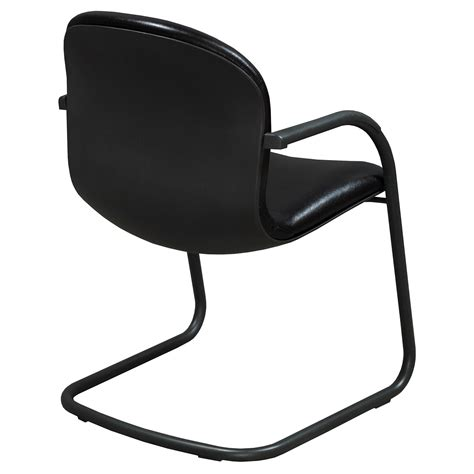 black leather side chair knoll rpm used leather side chair black national office