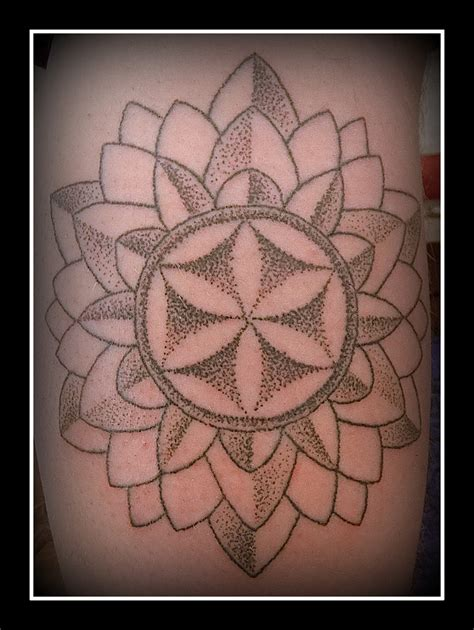 flower of life tattoo flower of mandala