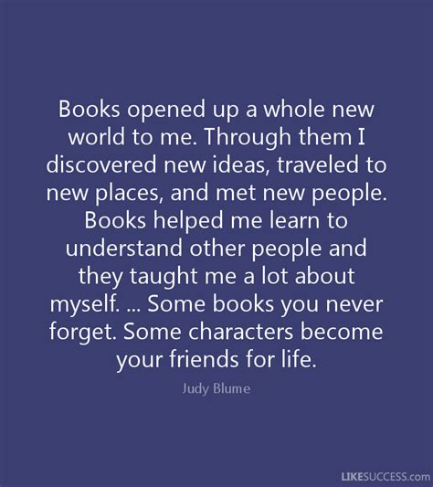 me whole books books opened up a whole new world to me by judy blume