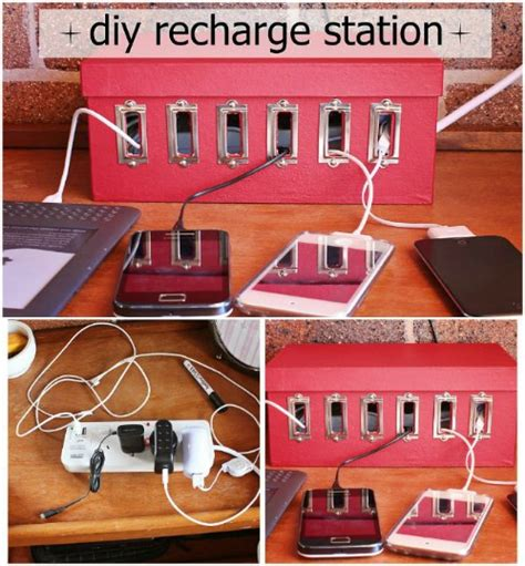recharge station 25 brilliantly crafty shoebox projects for you your home