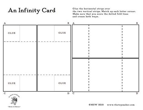 card templates with folded ends the infinity card a template cards