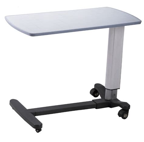 hospital table on wheels movable adjustable hospital bedside tables with