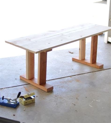 diy bench legs how to make your own tile table