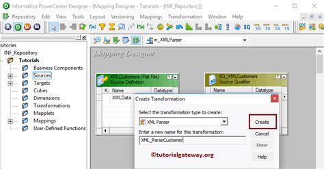xml gateway tutorial xml parser transformation in informatica 14