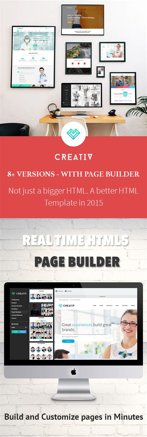 Creativ Business Html5 Template With Page Builder By Jollythemes Themeforest Page Builder Templates