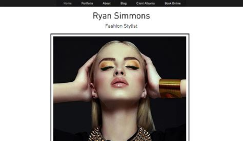 Portfolios Website Templates Portfolio Cv Wix Fashion Stylist Portfolio Template
