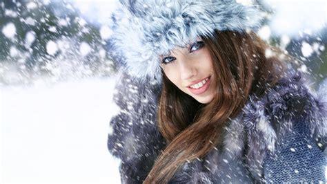wallpaper girl winter snow girl wallpaper high definition high quality