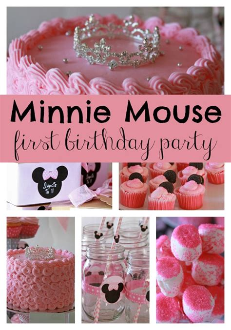 themes for a little girl s first birthday sweet minnie mouse first birthday pretty my party