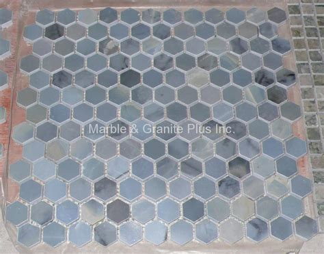 mosaic hexagon pattern blue moonstone hex pattern mosaic tile china manufacturer