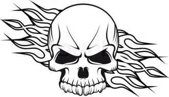 human skull flames stock vector colourbox