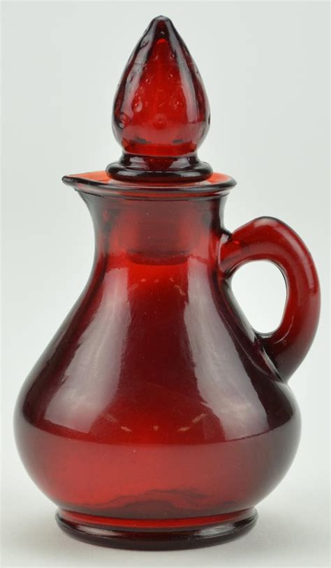 red bottle vintage avon glass ruby red cologne bottle u2013 5 quot tall