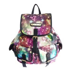anna smith cosmos galaxy print rucksack backpack bag