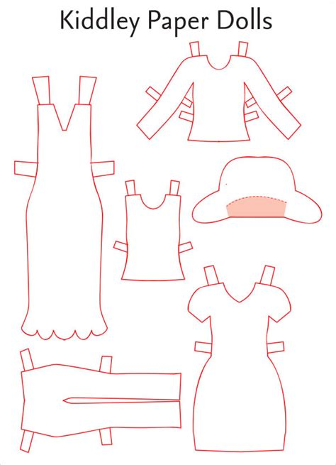 paper dress up dolls template paper doll sle 7 documents in pdf word eps