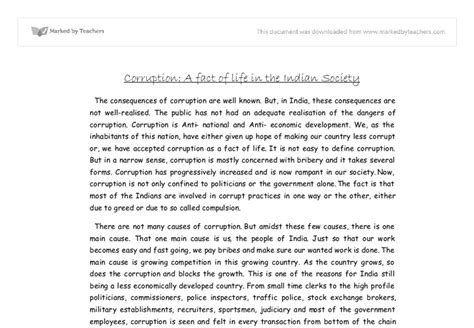 Corruption In India Essay by Write A Essay On Corruption In India Order Custom Essay