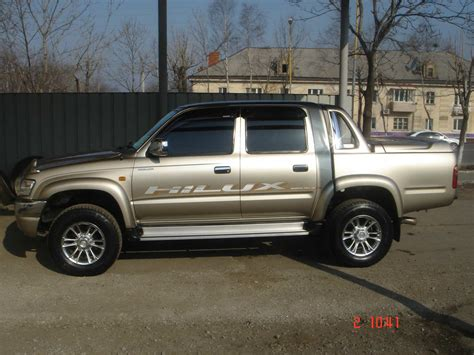 Toyota Up Hilux 2002 Toyota Hilux Up Pictures 2 7l Gasoline