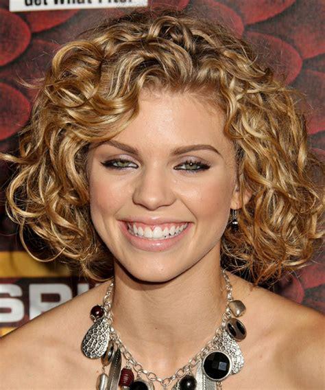 hairstyles curly medium short annalynne mccord medium curly formal hairstyle