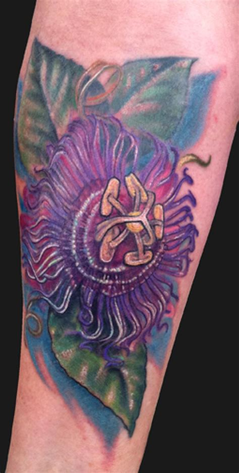 passion flower tattoo flower