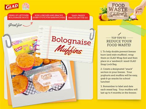waste food challenge recipe card muffins stay at home