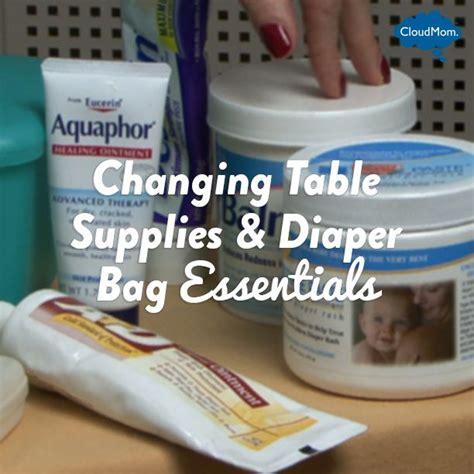 Changing Table Supplies Changing Table Supplies Bag Essentials Cloudmom Surviving Parenthood Pinterest