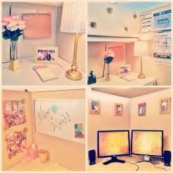 pink cubicle decor
