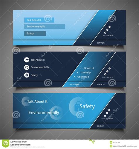 website header design web design elements header designs royalty free stock