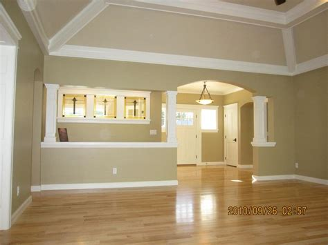 Tray Ceiling Wood Beams Ceiling Beams Ideas View From Great Room Into Open Foyer