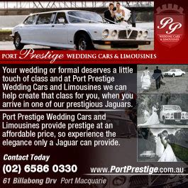 Car Hire Port Macquarie by Port Prestige Wedding Cars Limousines Limo Hire 61 Billabong Dr Port Macquarie