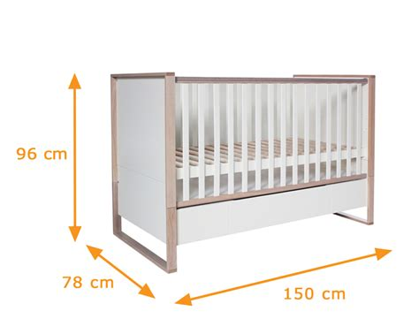 Is A Toddler Bed The Same Size As A Crib Natura Scandinavian Convertible Cot Bed Funique Co Uk