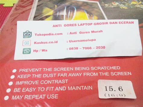 Lcd Protector Ukuran 3 Inch jual anti gores laptop atau notebook ukuran 15 6inch