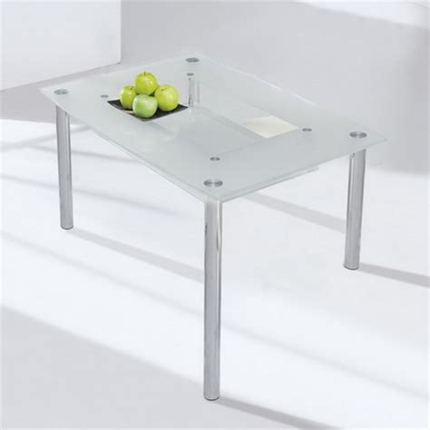 small compact glass dining table only black frosted