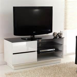 Tv Stand Bookshelves White Gloss Two Drawer Glass Shelf Lcd Plasma Tv Stand