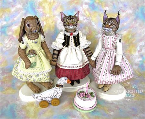 Beatrix Polka Pattern Blouse quot chelsea quot original one of a maine coon folk cat