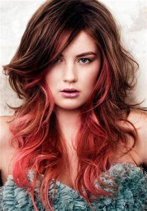 edgy highlights for brown hair funky long hairstyles pale red highlights on long medium