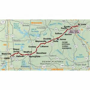 Map Bike Route by Adventure Cycling Association Bicycle Route 66 Section 2