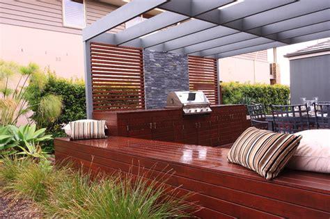 Aussie Bbq Deck And Dining Area Contemporary Patio Aussie Patio Designs