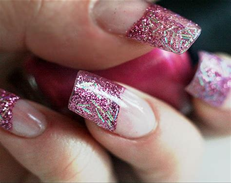 acrylic nail designs glitter www pixshark images galleries with a bite