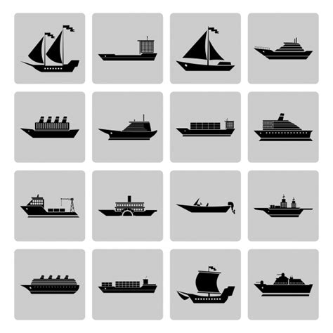 boat small icon ship icons collectio vector free download