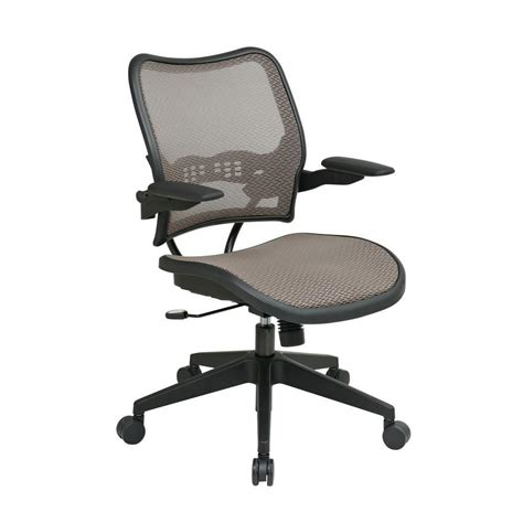 space seating space seating deluxe latte airgrid office chair 13 88n1p3