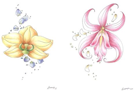 orchid tattoos by sinistervibe on deviantart