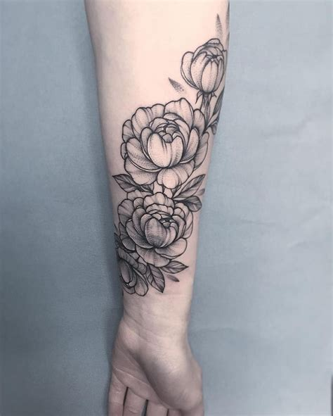 flower tattoo cover up forearm 20 best ideas about peonies tattoo on pinterest peony