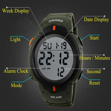 Skmei 1068 Sports Digital Led Merah skmei 1068 unisex led digital alarm waterproof