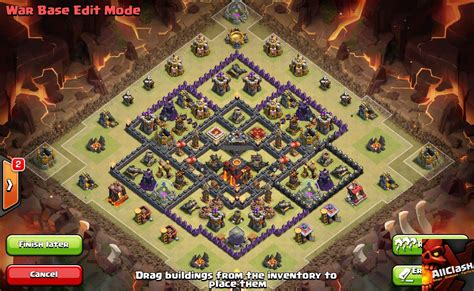 coc layout anti golem war base designs punchbowlwar