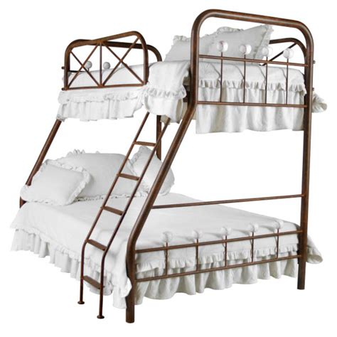 iron bunk beds baseball iron bunk bed twin over full by corsican iron