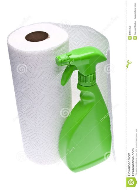How To Make Paper Spray - cleaning with paper towels royalty free stock images