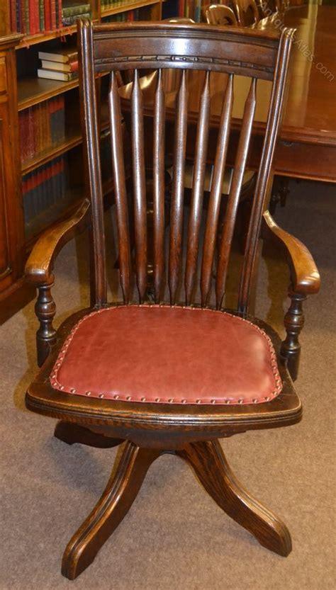 antique oak swivel desk chair oak swivel desk chair c1900 antiques atlas